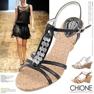 Picture of Chione T-Strap Sandals 1022764970 (Sandals, Chione Shoes, Korea Shoes, Womens Shoes, Womens Sandals)