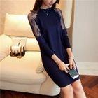 Lace Panel Knit Dress 1596