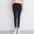 Distressed Skinny Pants 1596