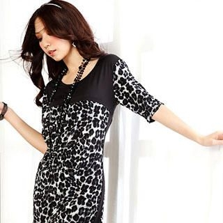 Buy Tian Mu Leopard Print Dress 1023020631