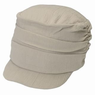 Picture of GRACE Gathered Casquette Oatmeal - One Size 1022173440 (GRACE, Mens Hats & Scarves, Japan)