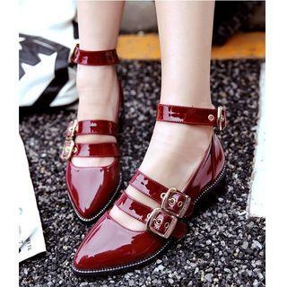 Ankle Strap Patent Pumps 1059941554