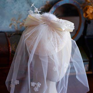 Wedding | White | Veil | Mesh | Size | Hat | One