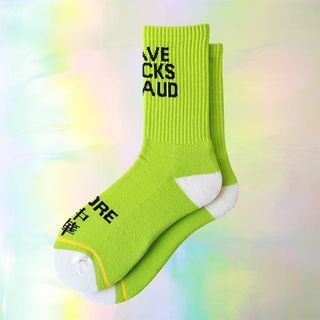 Green   Neon   Sock   Size   One