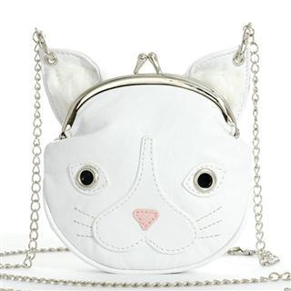 Buy Morn Creations Cat Purse with Chain White – One Size 1011631211