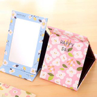 Floral Print Foldable Mirror 1596