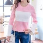 Round Neck Panel Rib Sweater 1596