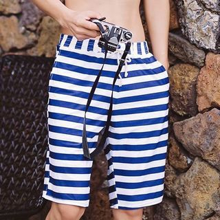 Striped Drawstring Swim Shorts 1057272315