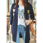 Open-Front Appliqu  Cardigan 1596