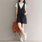 Set: Short-Sleeve T-Shirt + Sleeveless A-line Dress 1596