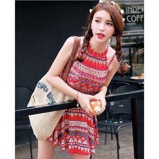 Patterned Swim Dress 1058551259