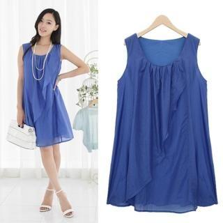 Buy Black Queen Sleeveless Shirred Dress 1022925351