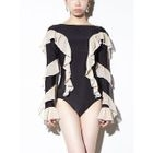 Frilled Long-Sleeve Swimsuit 1596