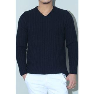 V-Neck Ribbed Sweater 1056968556