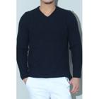V-Neck Ribbed Sweater 1596