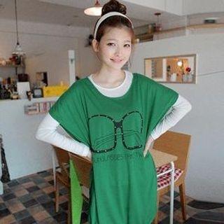 Buy CLICK Print T-Shirt Dress 1022486360