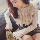 Set: Ruffled Knit Top + Shorts 1596