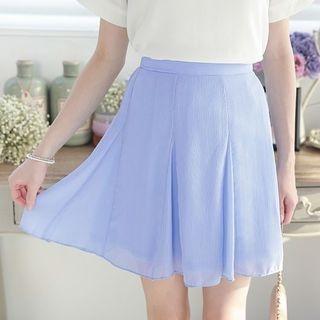 Plain A-Line Skirt 1050627034