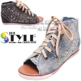 Buy Woorisin Peep Toe High Top Sneakers 1022935649