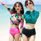 Set: Patterned Cropped Rashguard + Swim Bottom 1596