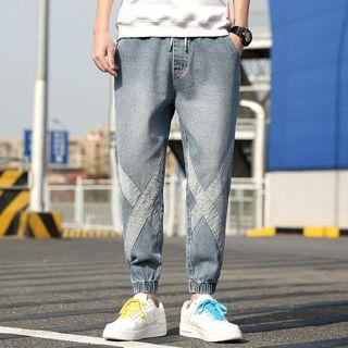 Image of Cross Print Harem Jeans