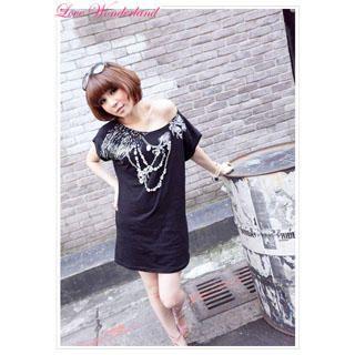 Buy Wonderland Print Tee-Shirt Dress 1022849212