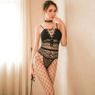 Fishnet | Tight | Teddy | Set