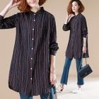 Pinstripe Long-Sleeve Blouse 1596