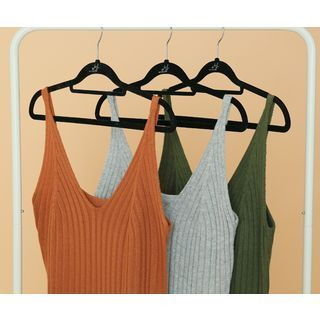 V-Neck Ribbed Knit Dress 1049431580