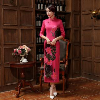 Floral Qipao 1055581740