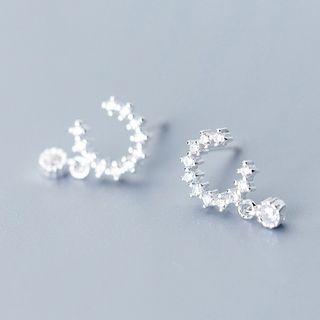 Rhinestone | Sterling | Earring | Dangle | Silver | Size | One