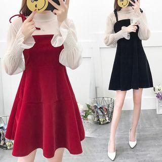 Long-sleeve | Spaghetti | Strap | Dress | Neck | Mini | Top