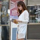 V-Neck Long Colored Cardigan 1596