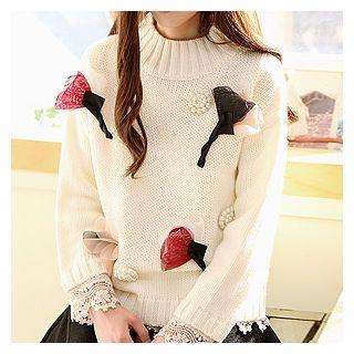 Drop-Shoulder Knit Top 1056441140