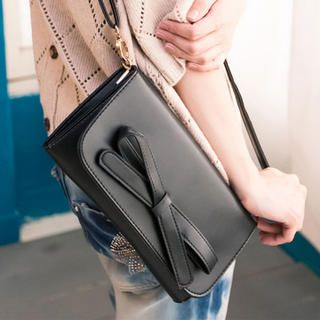 Bow-Accent Shoulder Bag