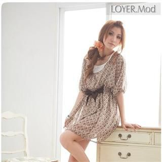 Buy LOYER.mod Patterned Dress with Bow 1022487968