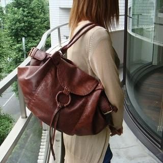 Picture of anello Belt-Detail Faux Leather Shoulder Bag Dark Brown - One Size 1020426920 (anello, Shoulder Bags, Japan Bags, Womens Bags, Womens Shoulder Bags)