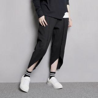 Details-Hem Cropped Pants