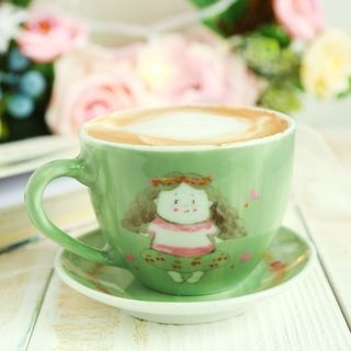 Cartoon Ceramic Coffee Cup Set 1060345451
