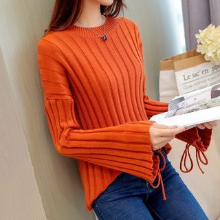 Lace Up Sleeve Sweater 1062672231