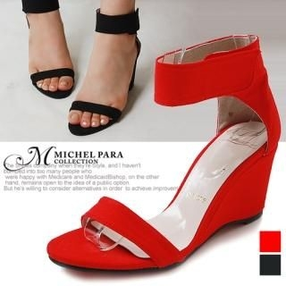Picture of MICHEL PARA COLLECTION Ankle Velcro Wedge Sandals 1022937778 (Sandals, MICHEL PARA COLLECTION Shoes, Korea Shoes, Womens Shoes, Womens Sandals)