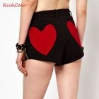 Heart Applique Shorts 1596