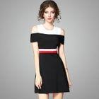 Color-Block A-Line Dress 1596