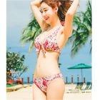 Set: Printed Cover-Up + Bikini + Swim Skirt 1596