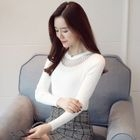 Lace Panel Knit Pullover 1596