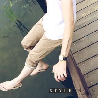 Buy Style Engine Check Trim Hem Capri Pants 1022887936
