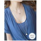 Set of 2: Disc-Pendant Tiered Necklace 1596