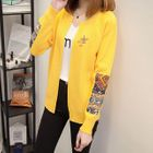Appliqu  Long-Sleeve Cardigan 1596