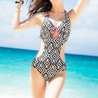 Set : Patterned Swimsuit + Cover-up 1596