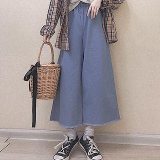 Cropped Wide-Leg Jeans 1065706661